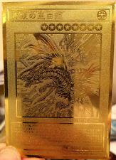 Yugioh Blue-Eyes Alternative White Dragon Custom Metal Limited Golden Card