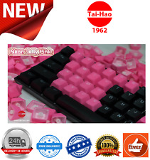 Tai-Hao TPR Rubber Gaming Backlit Double Shot 22 Keys Neon Pink KEY0097