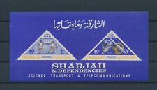 LM15724 Sharjah satellite rocket good sheet MNH