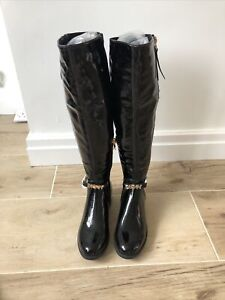 DKNY Exclusive High Knee Boots Size UK3 EU36•TOP•