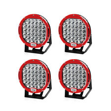 4PC Red 9 Inch  96W Xprite Driving Spot 5W CREE LED Work Light Round Offroad UTV