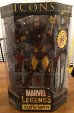 Icons Marvel Legends Iron Man No Mask 12? Figure Toy Biz MINT New Sealed