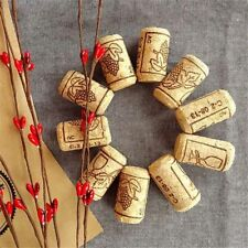 10PCS Wine Cork Crafts Wine Stopper Wood Natural Bottle Sealing Caps Plug Cover