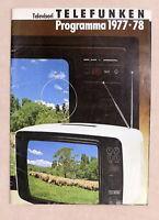 Pubblicità Catalogo TV - Televisori Telefunken - Programma 1977 / 1978