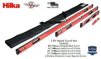 HILKA Spirit Level Kit NEW 5 Piece Professional Torpedo Box Level Set HEAVY DUTY