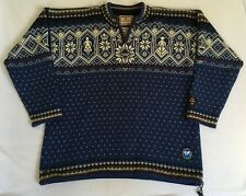 Dale of Norway Wool Nordic Ski Sweater Norge 2000 Goodwill Games Quarter Zip XL