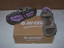 New In Box! Women's Hi-Tec Galicia Strap Sandal 29043 Taupe/Purple US 6