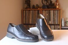 Wolky 40 2701 Malaga Black Leather 1 Inch Heel Loafers Shoes Women's Sz. 8.25-9