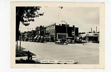 Center Street RPPC Ithaca MI Shell Gasoline Service Station—Vintage Photo 1940s