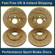 E270CDi W211 02-05 Saloon Models Front Rear Brake Discs /& Pads Drilled Discs