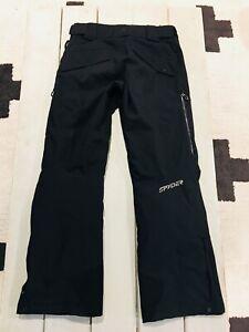 Spyder Mens Ski Snowboard Snow Pants Size Small S Black Hardly Worn Amazing Cond