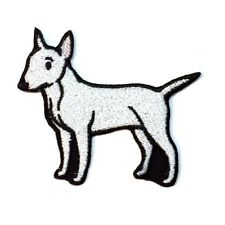 Bull Terrier Iron On Embroidered Patch