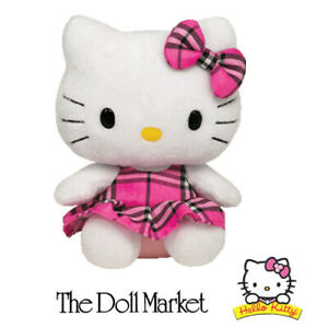 """NEW  with Tags - Ty Collection's Hello Kitty Tartan 13"""" Plush - Retired"""