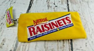 Nestle Raisinets Candy Advertising Brand Plush Carry All/makeup Bag Pouch NWT