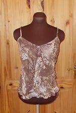 1MAX brown mocha beige snakeskin print chiffon frill camisole vest top 10