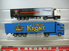 N81-0,5# Wiking H0 Mercedes-Benz MB TRUCK/Lorry (2 St): Circus Krone, Africa
