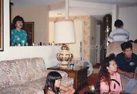Korean American Family FOUND PHOTO Original Snapshot VINTAGE Woman 811 34 M