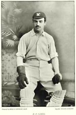 SURREY CRICKET. RP LEWIS- Wicket keeper; Winchester Oxford 1896 old print