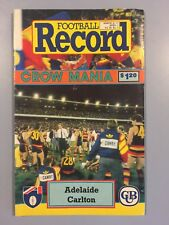 ADELAIDE V CARLTON ROUND 2 1991 MARCH 31 AFL RECORD CROWS V BLUES 2ND CROWS GAME