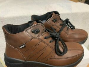 Hotter Viking Comfort Concept Brown Leather Ankle Hiking Boots Size UK 7.5 /41.5