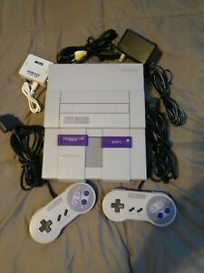 Super Nintendo NES Entertainment System SNES Classic Console 2 controllers works