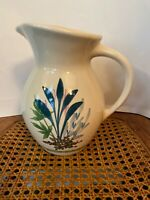 Emerson Creek Pottery Pitcher Made in USA Floral Beautiful Used