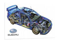 Richard Burns 16x12 Inch Canvas WRC Rally Subaru Impreza Framed Picture Sti