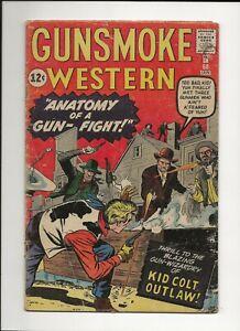 GUNSMOKE WESTERN #68 1962 MARVEL SILVER AGE WESTERN VG