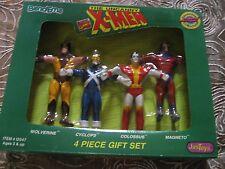 X-MEN BENDIES Complete SET OF 4-MINT IN BOX-RARE-BY MARVEL COMICS