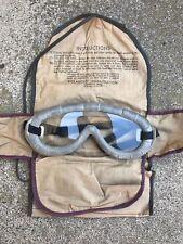 US WW2 WWII Polaroid Goggles , full kit GI United States Army Jeep Tanker