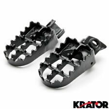 Black Strong Steel Wide Fat Foot Pegs KTM EXC MXC SX SXF XC 125-530 (1998-2013)