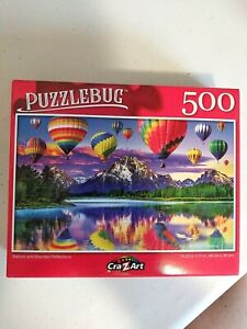 NEW!! BALLOON AND MOUNTAIN REFLECTIONS 500 Pcs Jigsaw Puzzle 18.25x11 *FREE SHIP