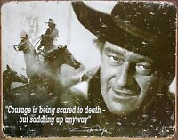 John Wayne Quote Courage Western Movie Memorabilia Nostalgic Tin Metal Sign Gift