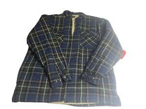 WOLVERINE Flannel Shirt Jacket Large  Sherpa Fleece Lined Men's size L NWT