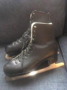 American Athletics Figure Ice Skates Tuv Rheinland Mens Sz 9 Black Reidel Style