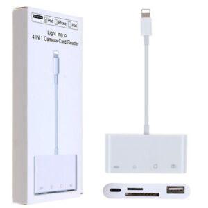 8 Pin to SD TF Card Reader Camera Adapter for iphone 6s/7/8/X iPad Air