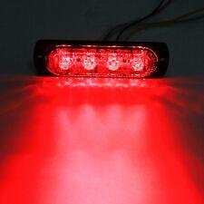 1pcs 2W Super Bright Red 4-LED Flash Emergency Hazard Warning Strobe Light Bar