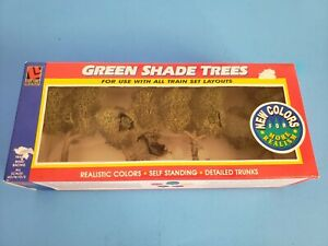 Vintage Life Like Trains Green Shade Trees NEW item # 1921 Realistic Colors