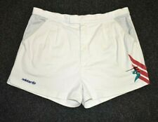 """ADIDAS STEFAN EDBERG TENNIS SHORTS VINTAGE THE BUSINESS CASUALS 80s 36"""" LARGE"""