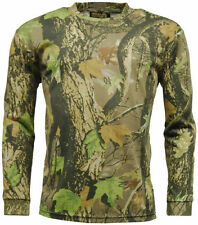 Polyester Camouflage Long Sleeve T-Shirts for Men