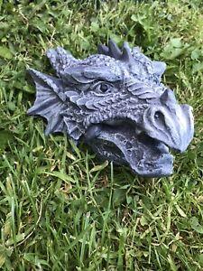 Dragons Head plaque, Stone garden ornament