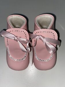 Spanish CUQUITO Baby Girls Pink Patent Party Shoes EUR 20 Approx 12 Months