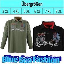 Langarm Herren-Poloshirts mit V-Ausschnitt