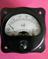 1 Stck Einbauinstrument 1 mA DC  UdSSR NOS 2,5% schwarz TOP Zustand
