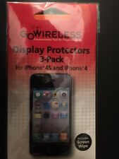 NEW! 3 Pack Verizon Go Wireless! Display Screen Protector IPhone 4/4S