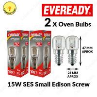 2 X Oven Bulb 300°C Cooker Appliance Rated Lamp Light 15W 240V SES E14 Eveready
