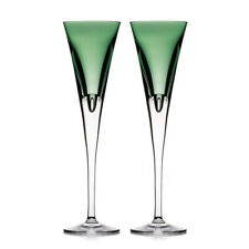 Waterford W Collection Champagne Flute Pair Fern Crystal New # 40029455