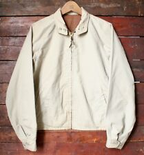 VTG 60s AMERICAN REVERSIBLE POLY COTTON ZIP UP CASUAL BOMBER JACKET USA SMALL