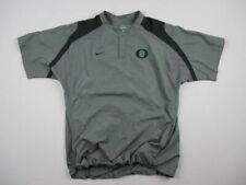 Nike Oregon Ducks - Men's Gray Short Sleeve Pullover Pullover (L) - Used