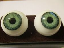 20 mm Green Vintage Glasaugen Glass Eyes 12 mm Iris W. Germany Doll Mannequin